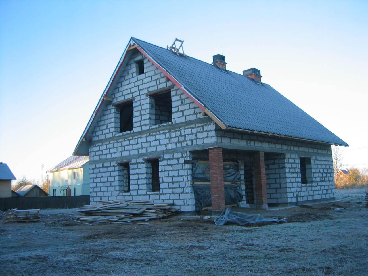 Построить двухэтажный дом из пеноблока своими руками