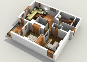 Frame house 6x8 floor plan. Heating
