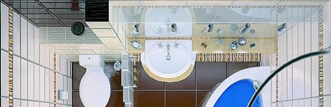fcc4b87c29 Elrendezés a fürdőszobában. Hogyan kell helyesen tervezni a fürdőszoba  területét