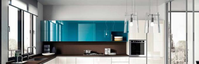 Dapur Penjuru Dengan Sudut Yang Terikat Kotak Pintar Untuk Menyimpan Peralatan Kelebihan