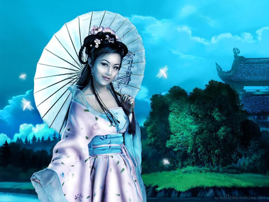 Сказочные картинки японки китаянки