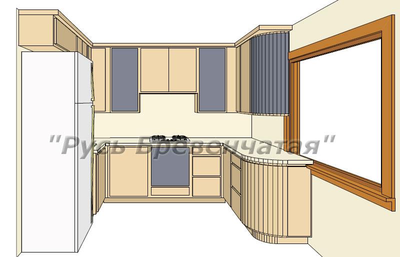 Установка кухни в деревянном доме с решением проблемы усадки сруба. Дизайн кухни в деревянном доме