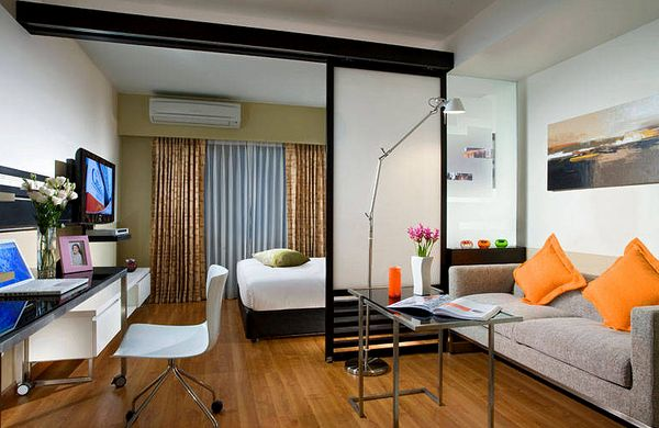. How to combine living room and bedroom in one room  The most urgent