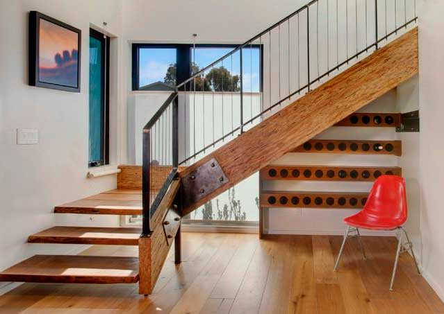 Дизайн бетонной лестницы на второй этаж. Виды лестниц из дерева в ...