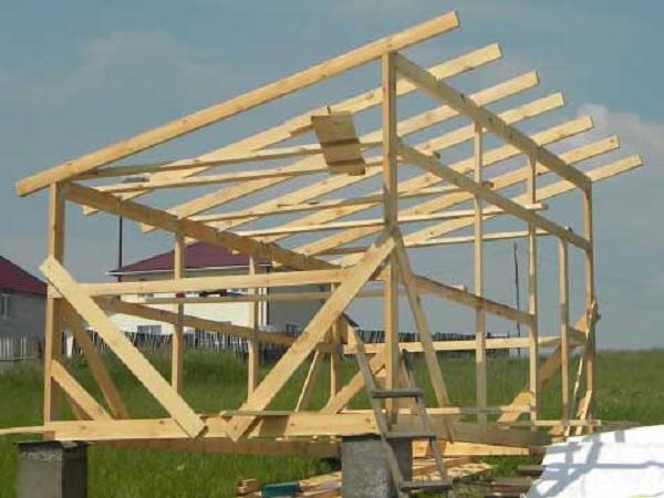 Ferde tető építése