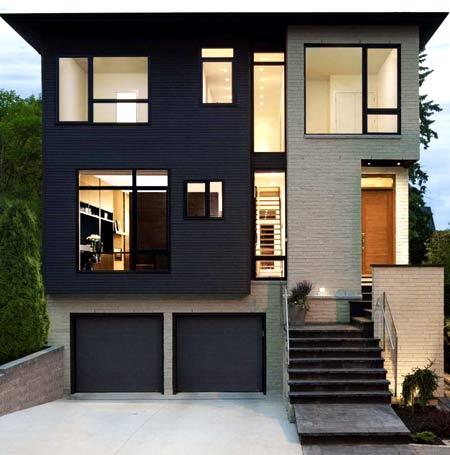 منزل مع بدروم وجراج. ملامح تصميم منزل من طابق واحد مع قبو