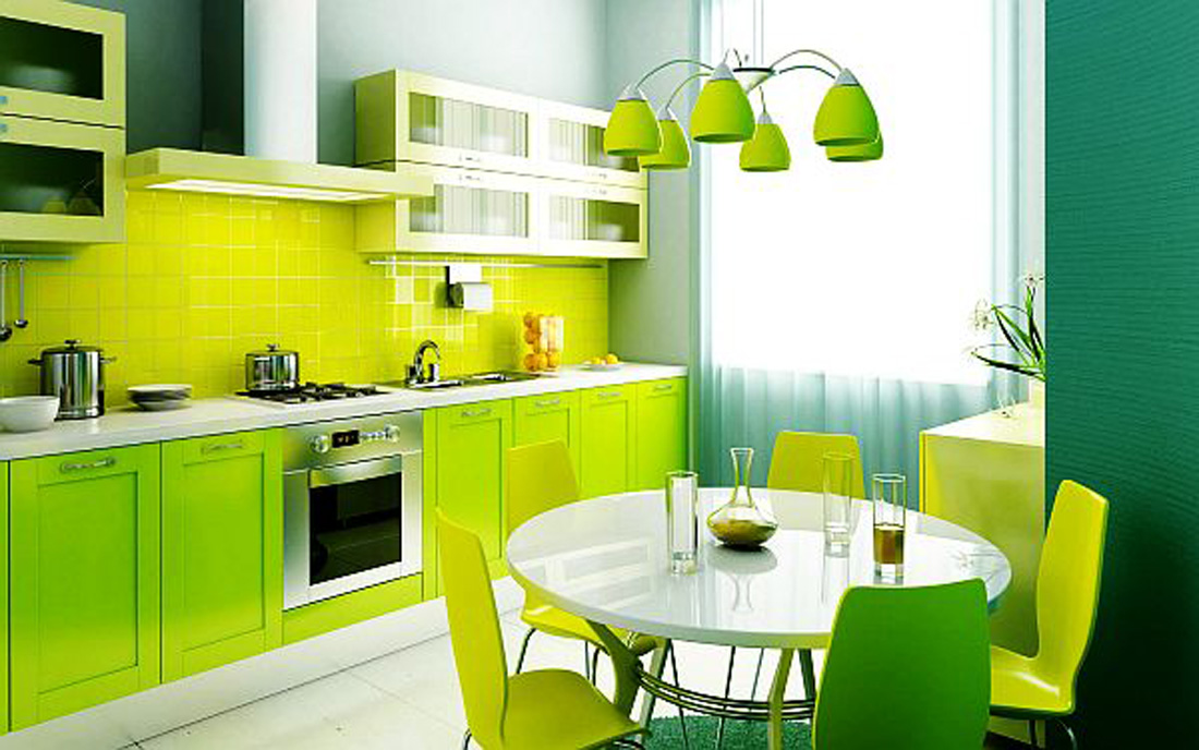 Dapur Dinding Putih